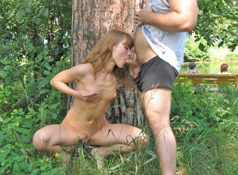 природе с проституткой на